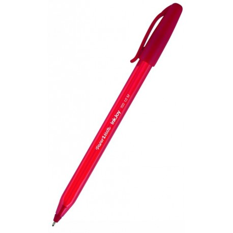 Stylo bille PaperMate Inkjoy 100 pointe moyenne avec capuchon - Rouge