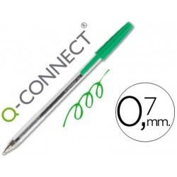 Stylo bille pointe 1mm avec grip et capuchon - Vert