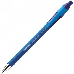 Stylo bille PaperMate Flexgrip Ultra Refresh rétractable - Bleu
