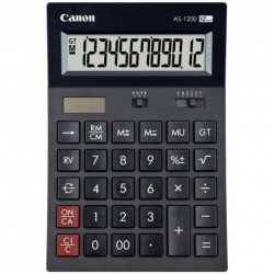 Calculatrice de bureau 12 chiffres Canon AS1200