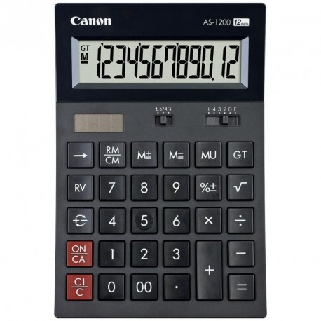 Calculatrice de bureau 12 chiffres Canon AS1200
