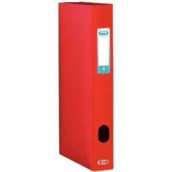 Boite de classement plastique Menphis dos de 4cm - rouge