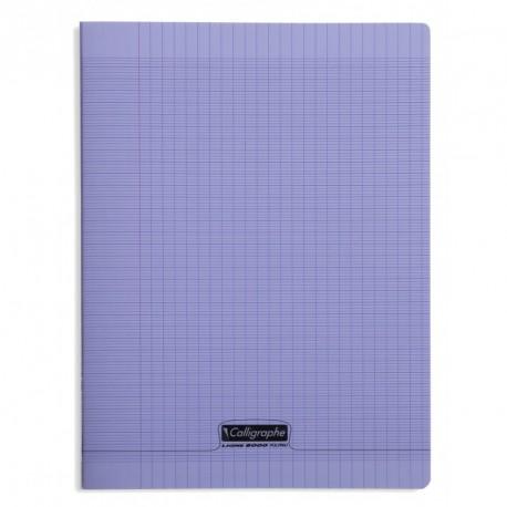 Cahier polypro Calligraphe grand format 24x32 192p grands carreaux (séyès) - violet