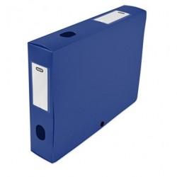 Boite de classement plastique Menphis dos de 6cm - Bleu