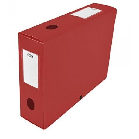 Boite de classement plastique Menphis dos de 6cm - rouge