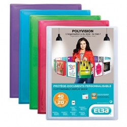 Protége-documents personnalisable format A4 20 pochettes/40vues