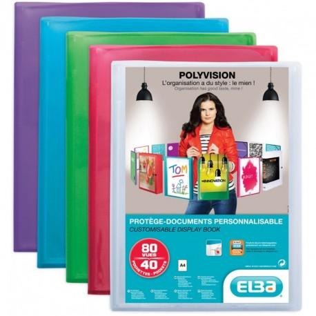 Protége-documents personnalisable format A4 40 pochettes/80vues