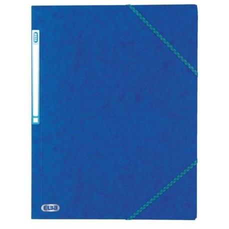 Chemise à élastique avec 3 rabats en carton - couleur bleu