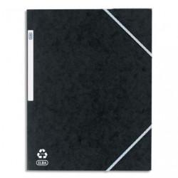 Chemise à élastique avec 3 rabats en carton - couleur noir