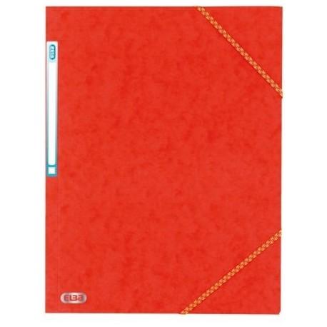 Chemise à élastique avec 3 rabats en carton - couleur rouge