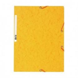 Chemise à élastique avec 3 rabats en carton - couleur jaune