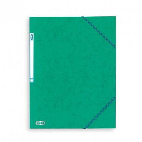 Chemise à élastique avec 3 rabats en carton - couleur vert