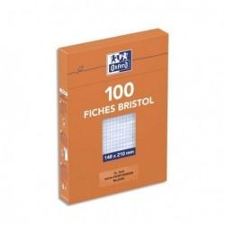 Feuille bristol 210gr non perforées 148x210 petits carreaux (5/5) Blanc