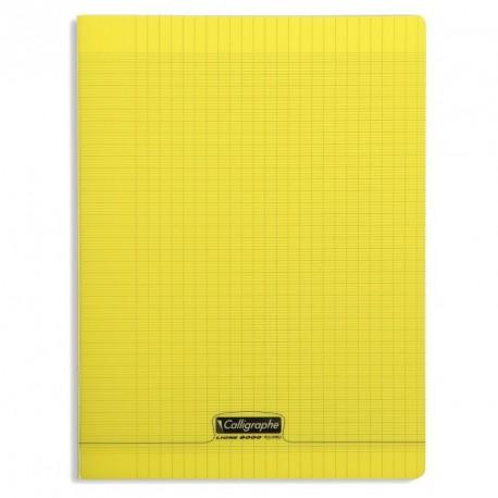 Cahier polypro Calligraphe format A4 21x29,7 192p grands carreaux (séyès) - jaune