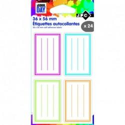 Etiquettes écolier 36x56mm multicolore - sachet de 20
