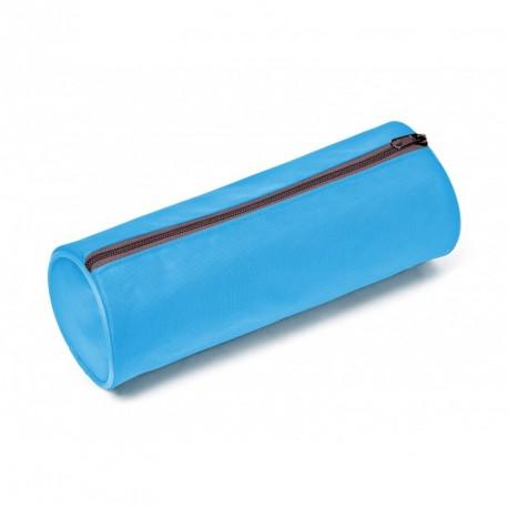 Trousse fourre-tout ronde en nylon format 22x7cm - coloris assortis